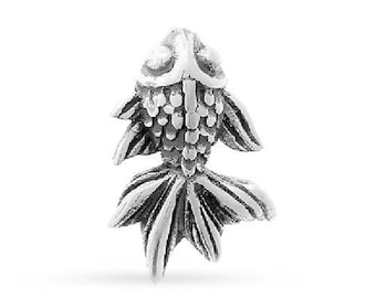 Charms, Cherry Blossom Embellishment, Sterling Silver, 12.5x8.3mm - 1 Pc Wholesale Price (12045)/1