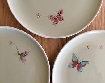 Grant California butterfly plates 1950s designed by Mary Grant