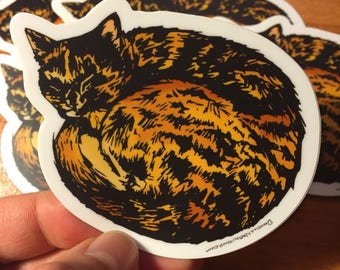 Cat Nap - Vinyl Sticker