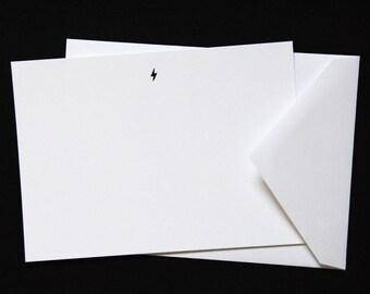 Lightning Bolt Luxe Letterpress Notecard | Celestial Collection | Howl Paper Studio