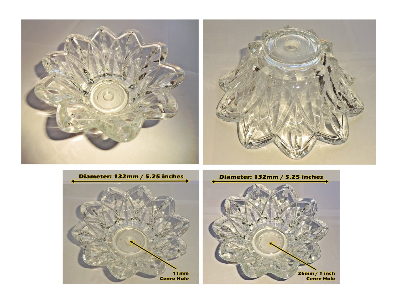 Chandelier bobeche deep bowl drip tray thick cut glass light pan cup chandelier bobeche deep bowl drip tray thick cut glass light pan cup scallop edge 132mm 525 inch retro vintage antique style 5 hoops bn aloadofball Images