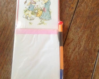 Holly Hobby note pad, notepad, vintage, NOS, shopping list, 1970's, flower child,