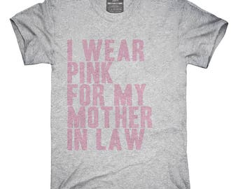 I Wear Pink For My Mother In Law Awareness Support T-Shirt, Hoodie, Tank Top, Gifts