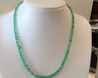 Columbian Emerald Bead Necklace