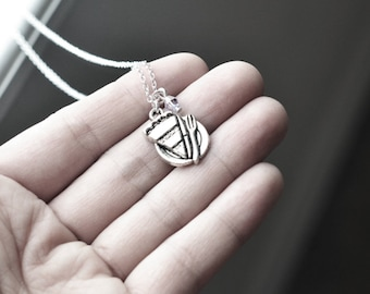 Piece of Pie & Fork Necklace - 925 Sterling Silver or silver tone Chain- Charm Jewelry- Funny Clever Unique Eccentric Gifts - Customize