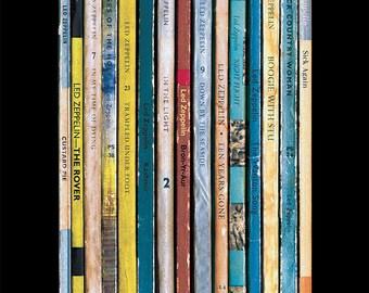 Led Zeppelin 'Physical Graffiti' Poster Print Album As Books, Jimmy Page Poster, Robert Plant Poster, Literary Print, Penguin Books Art