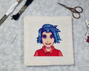 Cross Stitch Pattern - Emily Portrait - Stardew Valley