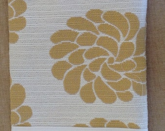 Golden Floral design with ivory white faux suede contrast, wine or car trash bag, washable, dryable, FREE SHIPPING.