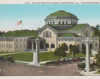 Clearwater, Florida, Calvary Baptist Church - Vintage Postcard - Postcard - Unused (JJ)
