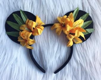 Tiki Room Inspired Mouse Ears * Polynesian * Ohana * Lilo And Stitch * Dole Whip