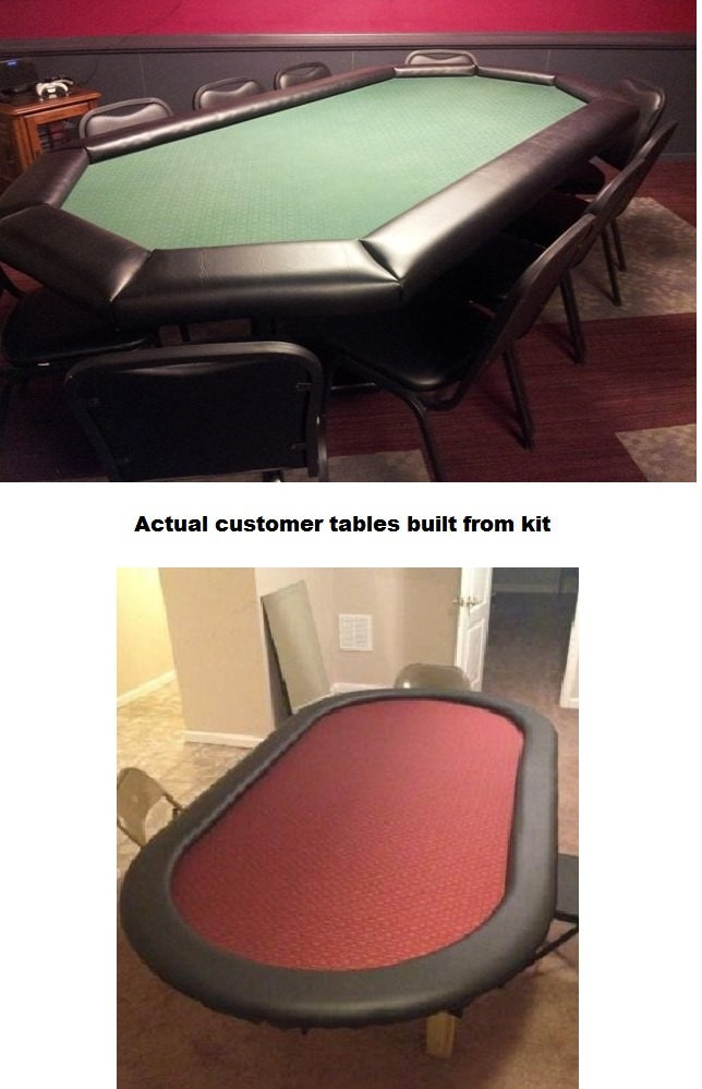 DIY 8u0027 Standard Poker Table Building Kit   13 Color Choices   Build Your  Own Poker Tables