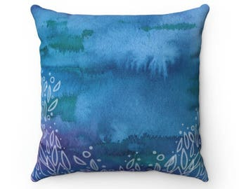 Blue Decorative Throw Pillow Cover, Throw Pillow for Couch, Blue Pillows, Decorative Pillows for Home Decor, Purple Pillow, Pillow Cases