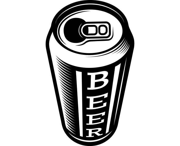 beer can 1 bar pub tavern bartender aluminum six pack drink rh etsy com free beer can clip art beer can clip art free