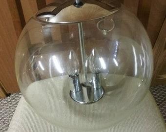 Mid Century Modern Clear Glass Globe Pendant Chandalier
