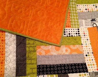 "Modern Throw Quilt | Contemporary Quilt | 55"" x 68"" 