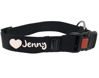 Black custom dog collar