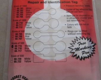 500 white mylar 9/16 inch round large price tags