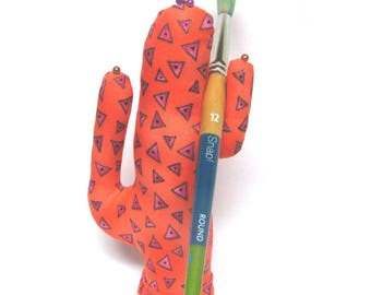 Tall Laurel Burch Triangle CACTUS-Stand ~ Eyeglass Jewelry Holder ~ Ready to Ship