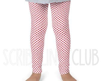 Girl's leggings for Valentines Day