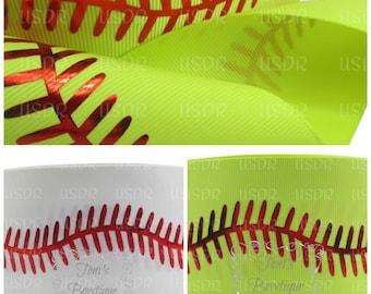 """USDR, 3"""" Ribbon By the Yard, Softball Ribbon, cheer bow ribbon, hair bow ribbon, craft supply, US Designer 3"""" Ribbon"""
