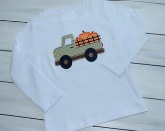 Pumpkin Shirt - Pumpkin Truck Shirt - Custom Halloween Shirt - Custom Thanksgiving Shirt - Personalized Pumpkin Shirt - Personalized Fall