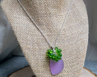 Clustered Sea Glass Necklace