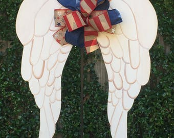 4th Of July Door Hanger Red White Blue