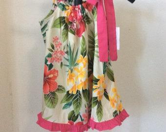 Hawaiian Print Children Dress