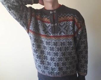 Vintage clothing, Nordic cardigan, Nordic sweater, Scandinavian sweater, Nordic  clothing, Scandinavian clothing, mans clothing