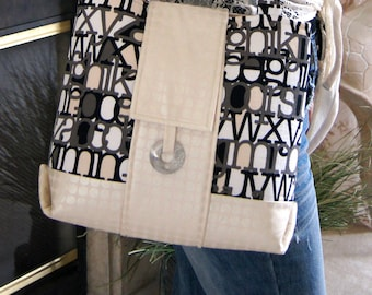 PDF Town Tote Bag Purse SEWING PATTERN