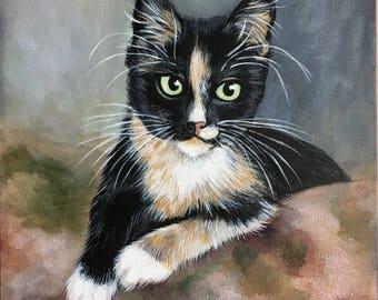 Calico Kitten Print
