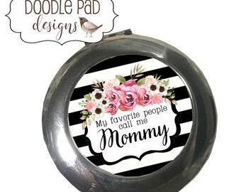 Compact Mirror Personalized Mothers Day Gift for Mom Pocket Mirror