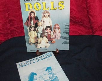 """Two Vintage Doll Reference Books """"Spinning Wheel's Complete Book of Dolls"""" and """"Mary's Dollies"""""""