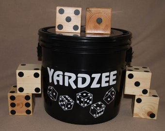Farkle Yardzee, Yard Yahtzee Outdoor Game 6 dice / Christmas Gift / Wedding Gift / Graduation Gift / Dice Game / Camping / Outdoors / Family