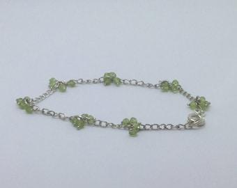 Peridot cluster bracelet