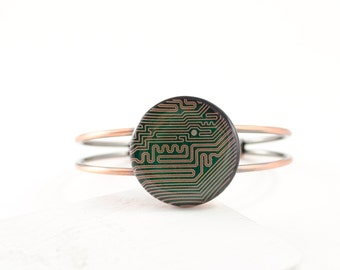 Circuit Board Bracelet, Circuit Board Jewelry, Tech Gift, Computer Engineer, Geeky Bracelet, Wearable Technology, Technology Gift for Her