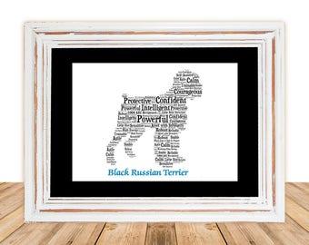 Black Russian Terrier,Black Russian Terrier Art, Black Russian Terrier Print,Pet Gift,Dog Art,Pet Memorial, Pet Loss Gift, Pet Memorial art