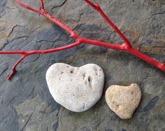 STONE HEARTS...9 natural undrilled beach stones-organic supplies-wedding valentine love rocks