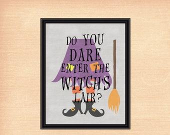 Witch's Lair | Halloween Printable | Halloween Decor | 8x10 - INSTANT DOWNLOAD