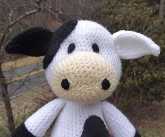 Amigurumi Vaca : Lil cow amigurumi crochet pattern pdf file only medium