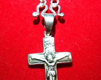 Silver Cross    Sterling Silver Cross    Necklace