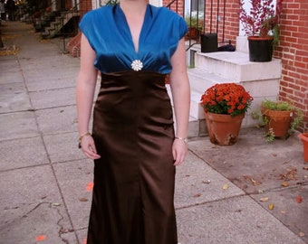 Butterick 6410 Retro Formal Evening Dress and Jacket 1930s Sz 14 Bust 36