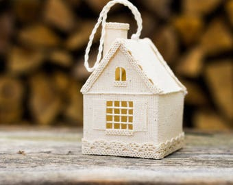 Little White House, Housewarming Gift, Home Sweet Home, Rustic Home Decor