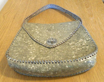Vintage snakeskin like handbag - Free shipping