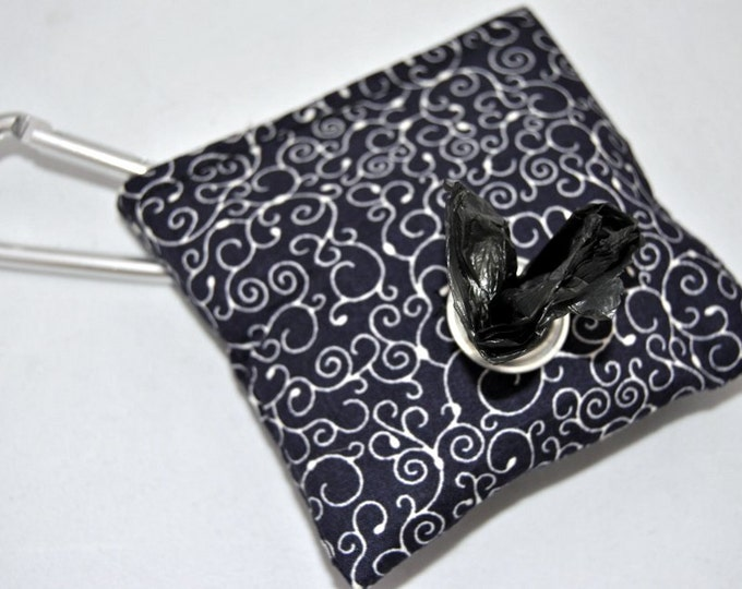 Navy Swirl Poop Bag Pouch
