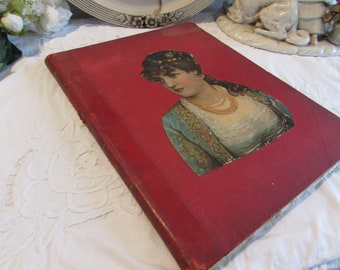 Antique French superb piano music book..personal book dated 1894.