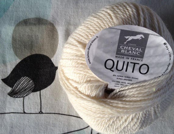 WOOL QUITO string - white horse