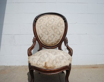 Beautiful Antique Victorian Ladies Parlor Chair ...