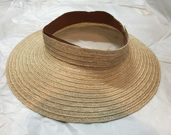 Hemp hat visor brim for millinery