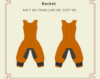 Rocket Raccoon Guardian of the Galaxy Cosplay Sewing Pattern - PDF INSTANT Download - Multi-Size Pack